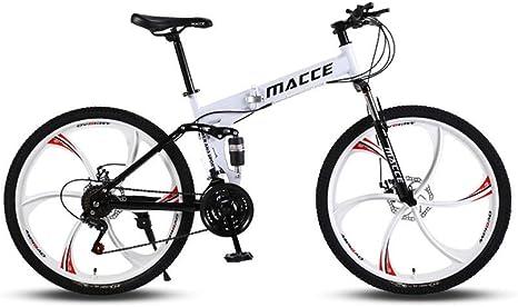 Bicicleta de carretera Bicicleta de montaña 24 velocidades Bicicleta de pista urbana plegable Cambio de 24 pulgadas Estudiantes masculinos y femeninos Amortiguador de doble amortiguador Adulto Dis: Amazon.es: Deportes y aire libre