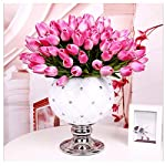 StillCool-Artificial-Flowers-Tulip-12pcset-Pu-Stunning-Holland-Mini-Tulip-Real-Touch-Wedding-Flower-Artificial-Flowers-Latex-Plants-for-Party-Home-Hotel-Event-Christmas-Gift-Decoration-Dark-Pink