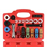 OrionMotorTech 22pcs Master Quick Disconnect Tool Kit for Automotive AC Fuel Line and Transmission Oil Cooler Line, Includes Scissor Type Remover, Compatible with Most Ford Chevy GM Models