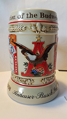Anheuser-Busch 1999 State Convention Stein #1 of 4 Evolution of the Budweiser Label