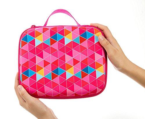 ZIPIT Colorz Jumbo Large Storage Box, Pink Triangles Photo #5