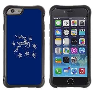 Suave TPU GEL Carcasa Funda Silicona Blando Estuche Caso de protección (para) Apple Iphone 6 / CECELL Phone case / / Blue Deer Winter Stars Minimalist /