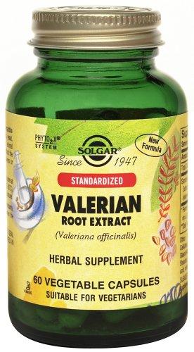 Solgar normalisé racine de valériane Extrait Capsules de légumes, 60 comte