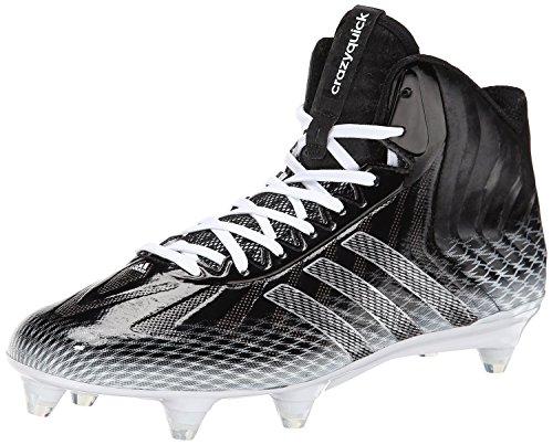 adidas Performance Men's Crazyquick Mid Football Cleat, Black/White, 11 M US