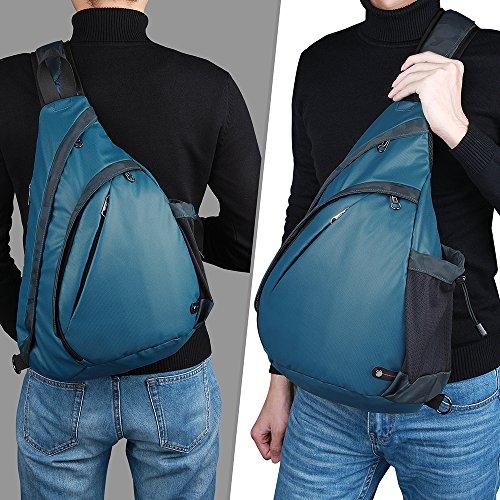 OutdoorMaster Sling Bag - Crossbody Backpack for Women & Men (Blue)