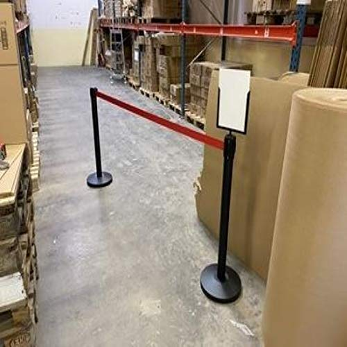 Flexibarrier Sign Holder for Belt Stanchions Economy//Basic 300 // Outdoor 250 // Pro 250 // Safety 250
