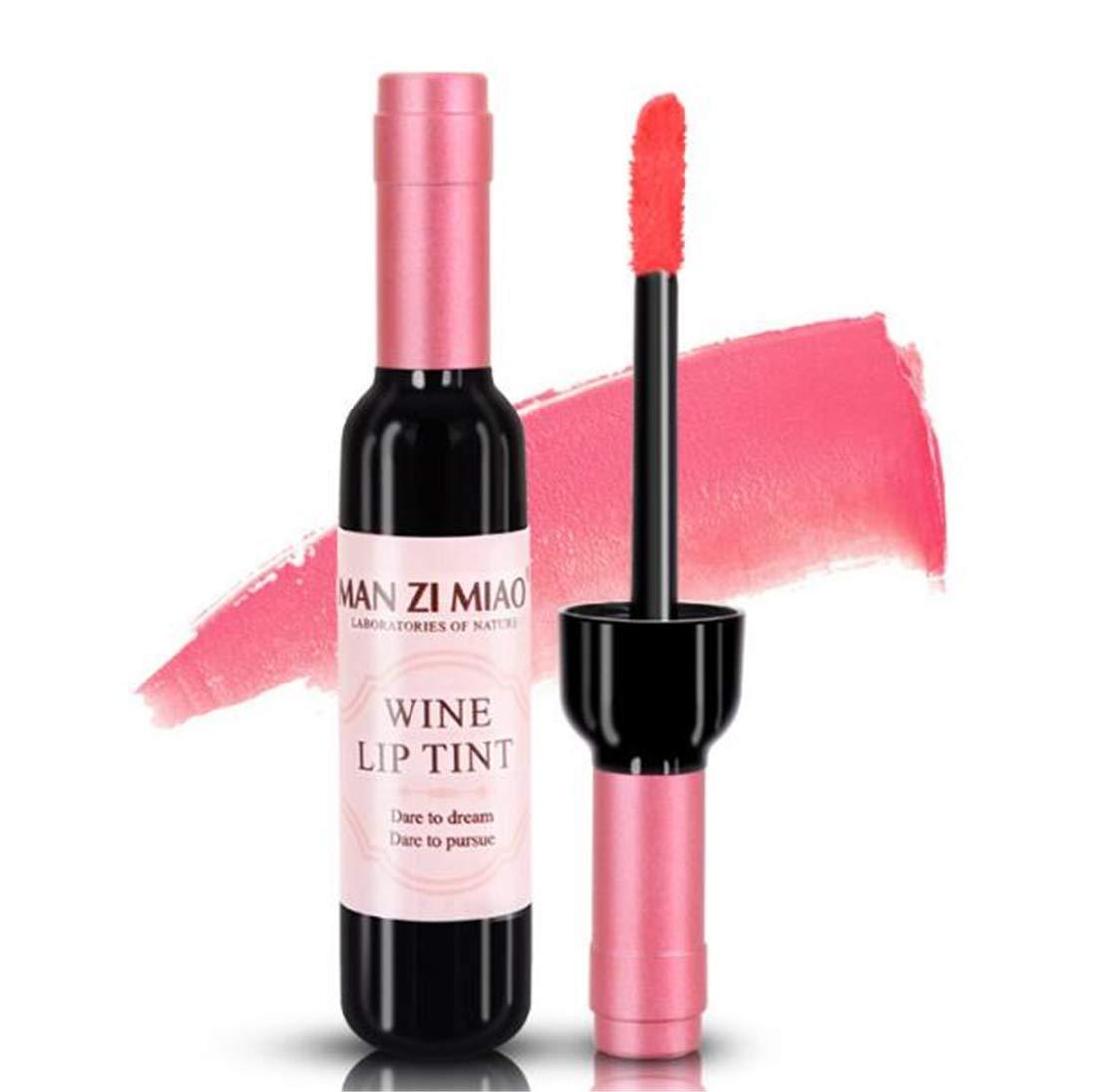 Tmrow 1PC Wine Liquid Lipstick Lady Long Lasting Make Up Gloss Matte Lip Sticks Wine Bottle Cover(Color Sent Randomly)