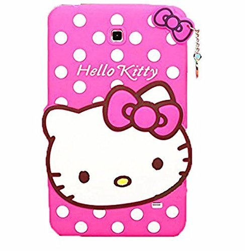 Samsung Galaxy Tab 4 7.0 SM-T230,SM-T231 Case,Phenix-Color 3D Cute Soft Silicone [Drop Proof,Shock Proof,Anti Slip] Cartoon Gel Rubber Back Cover Case for SM-T230,SM-T231 (#10)