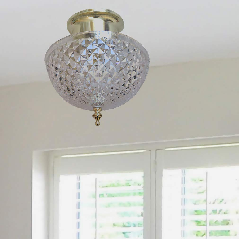 Evelots Ceiling Clip-on Light Bulb Shade-Lamp-Dome-Antique-Diamond ...