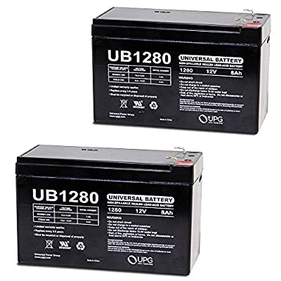 Universal Power Group 12V 8Ah Electric Scooter Battery for 7Ah Razor W15130412003-2 Pack : Sports & Outdoors