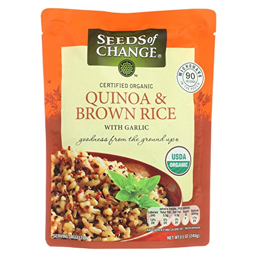 Seeds of Change Organic Quinoa and Brown Rice with Garlic - Case of 12 - 8.5 oz. by Seeds Of Change