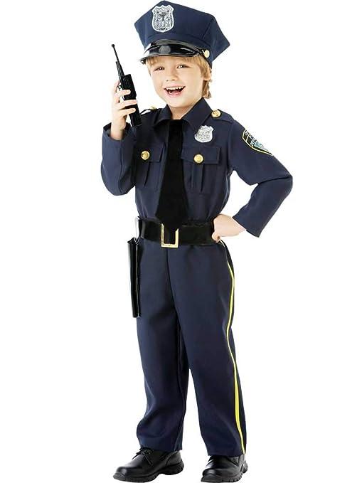 Set High (PKT) (999664) Disfraz de policía para niños de 6 a 8 ...