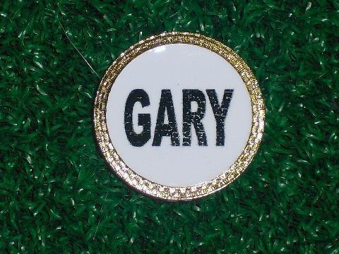 Gatormade PersonalizedゴルフボールマーカーGary   B008MOMAQ8