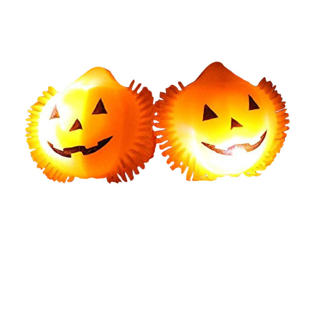 The Electric Mammoth Light Up LED Flashing Halloween Party Rings - Set of 12 (Pumpkins) by The Electric Mammoth