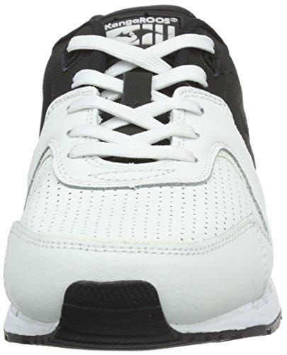 Black KangaROOS Coil 501 r2 Top Tone Adults' Multicolour Unisex Low White 8vv7r