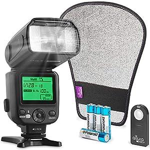 Best Epic Trends 51Q5%2BU6QTgL._SS300_ Altura Photo Camera Flash KIT W/LCD Display for DSLR & Mirrorless Cameras, External Flash Featuring a Standard Hot Flash…