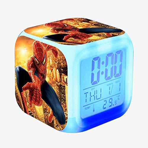 Amazon.com: DO HUYEN Kids Alarm Clock Glowing LED Light 7 Color Change Cartoon Digital Clock Children Toys reloj despertador Table wekker reveil (Colorful, ...