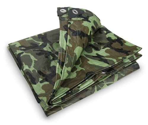 Stansport Ripstop Tarp (Stansport T-810-C Reinforced Multi-Purpose Tarp, Woodland Camo - 8 X 10-Feet)