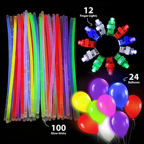 (Nooled Set of 136- Glow LED Party Supplies Pack, 100 8