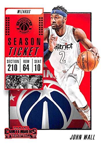 2018-19 Panini Contenders Season Ticket #69 John Wall Washington Wizards NBA Basketball Trading Card