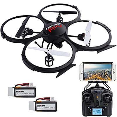 DBPOWER UDI U818A WiFi FPV Quadcopter Drone Headless Mode with HD Camera with Battery from DBPOWER