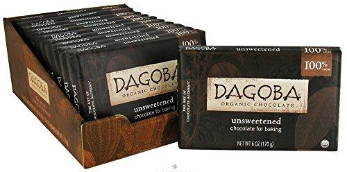 Dagoba Organic Chocolate - Unsweetened Chocolate For Baking 100% Cacao - 6 oz. ()