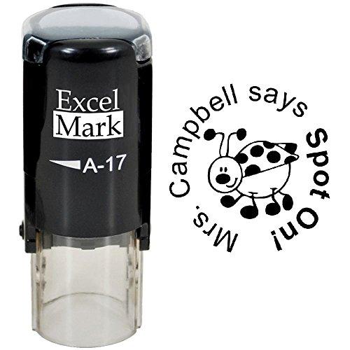 - SPOT ON - ExcelMark Custom Round Self-Inking Teacher Stamp