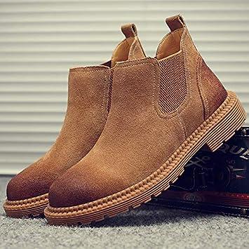 Shukun Botas de hombre Botas de Primavera Martin Botas para Hombre Botines Chelsea para Hombres Pies para Ayudar a los Zapatos Casuales: Amazon.es: Deportes ...