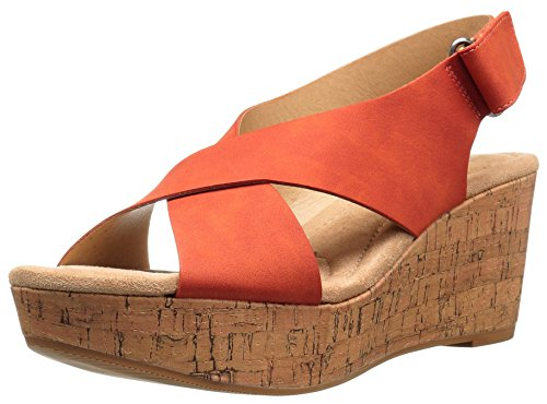 CL by Chinese Laundry Women's Dream Girl Wedge Pump Sandal, Burnt Orange Nubuck, 9.5 M US