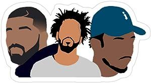 Story Storm Store Drake, J Cole, Kendrick Lamar Stickers (3 Pcs/Pack)