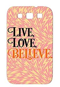 Believe Bronze Case Cover For Sumsang Galaxy S3 Faith Church Christianity Religion Philosophy Christian Christianity Jesus