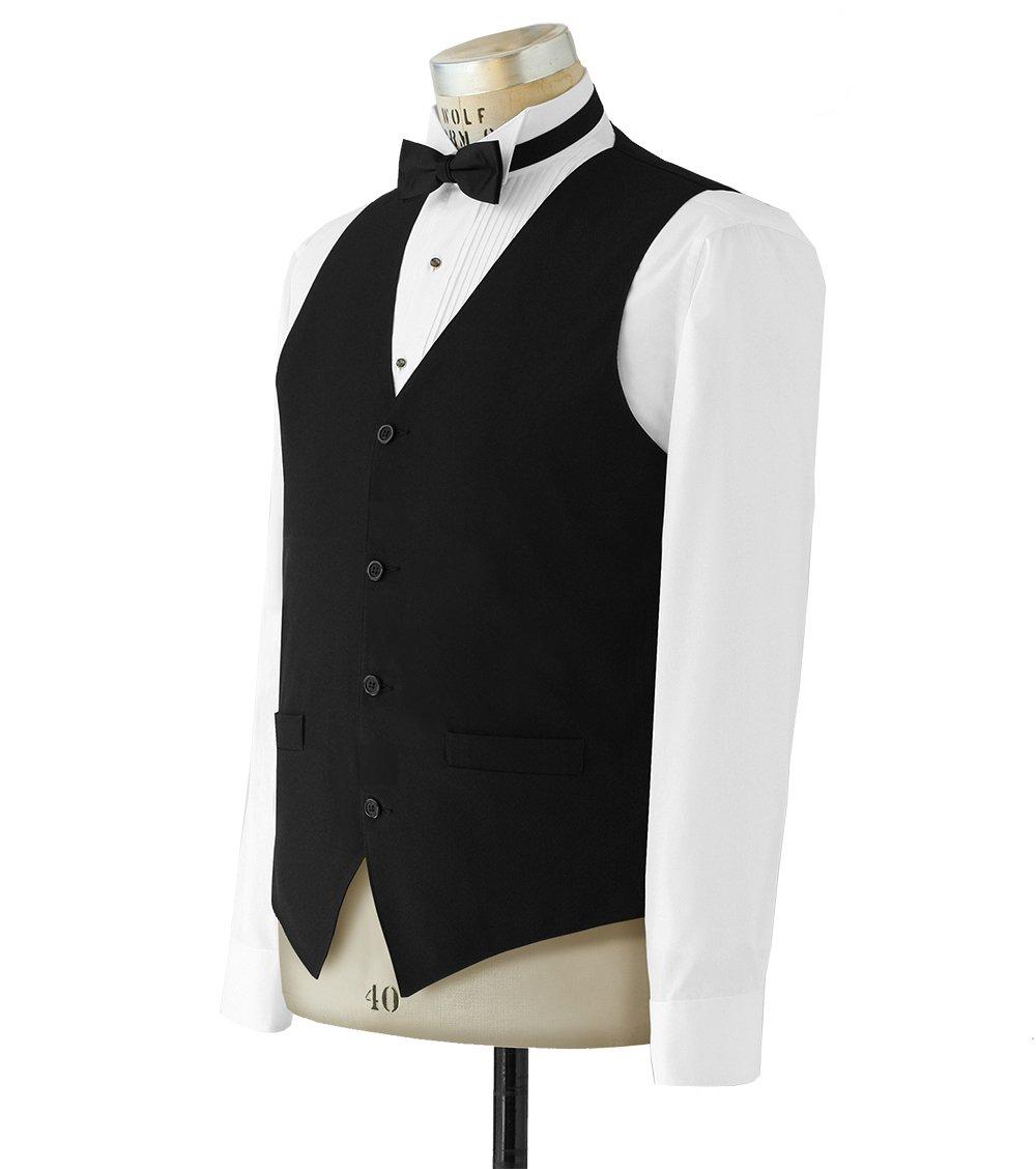 Neil Allyn 100% Polyester Solid Black Wait Staff Vest for Women - X-Large