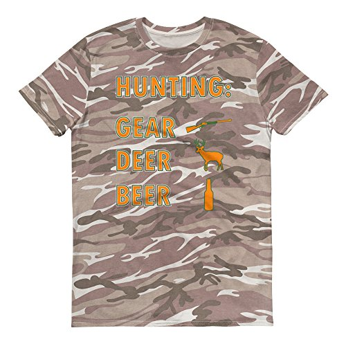Funny Deer Hunting Season Short-Sleeved Camouflage t-Shirt