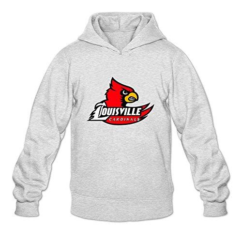 Oryxs Men's Louisville Cardinals Sweatshirt Hoodie XL Light Grey