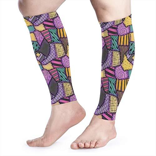 Sally Ragdoll Scraps Unisex Calf Compression Sleeve - Leg Compression Socks for Running, Shin Splint, Calf Pain Relief, Leg Support Sleeve