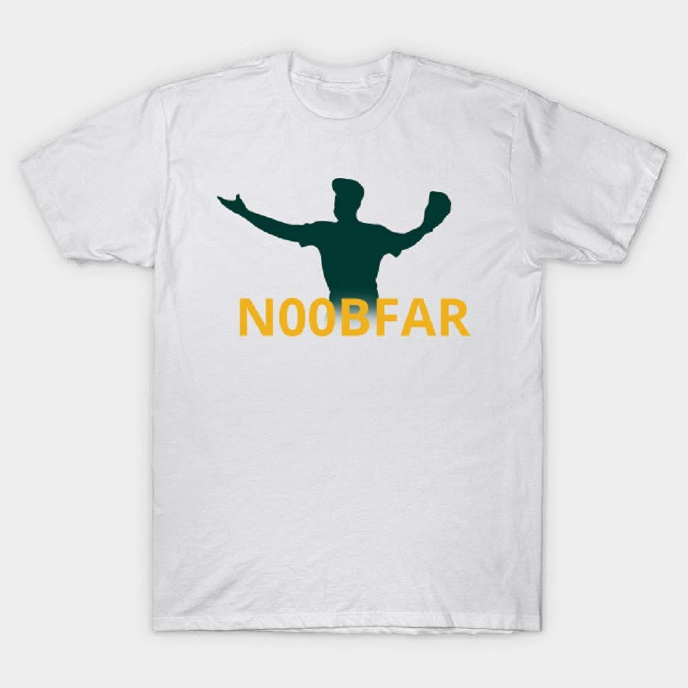 Crazymonkeyshirt Baseball Noobfar T Shirt For Funny Print Short Sleeve Tees