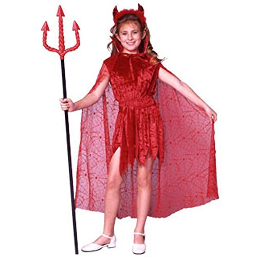 [Kid's Devil Girl's Costume (Size:Medium 8-10)] (Devil Costume For Girls)