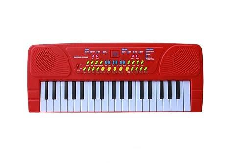 37 teclas de teclado electrónico juguete para niños de Órgano con Power Multifuncional Micrófono, ...