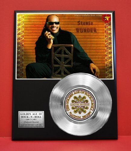 Stevie Wonder LTD Edition Platinum Record Display - Award Quality Music Memorabilia Wall Art - from Gold Record Outlet