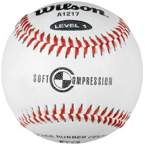 Wilson A1217 Soft Compression Baseball, White by Wilson