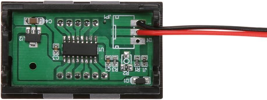 Demiawaking 0,56inch LED-Anzeige DC 4.5-30V Zweidraht-Digital-Voltmeter Rot