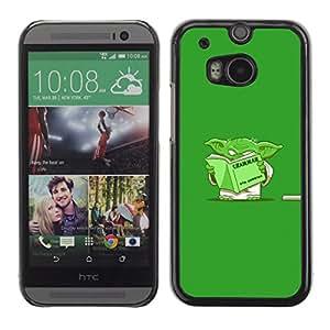 Caucho caso de Shell duro de la cubierta de accesorios de protección BY RAYDREAMMM - HTC One M8 - Divertido Gramática Yoda