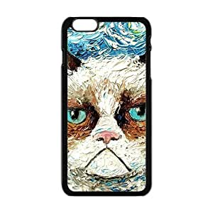 Aggrieved White cat Cell Phone Case for iPhone plus 6