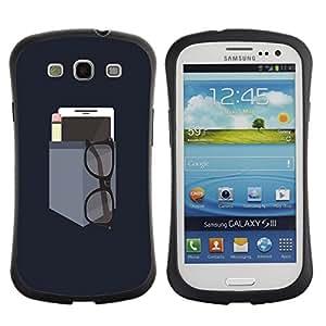 Fuerte Suave TPU GEL Caso Carcasa de Protección Funda para Samsung Galaxy S3 I9300 / Business Style Phone Engineer Teacher Minimalist