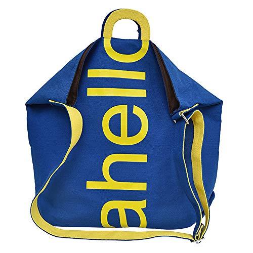 Para Mujer Hombro Bolsos Sencillo Mano Viaje Trabajo Escuela Mochila Shoppers Vida Bolso Bandolera De Bolsa Lona Azul IYwqf7Cqx