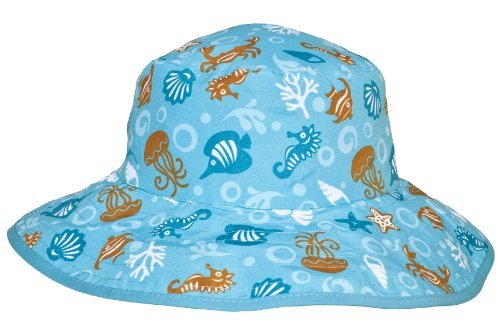 Baby Banz UV Reversible Bucket Hat, Aqua Tide, Baby
