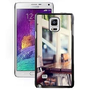 Fashionable Custom Designed Samsung Galaxy Note 4 N910A N910T N910P N910V N910R4 Phone Case With Urban Wooden Coffee Table_Black Phone Case