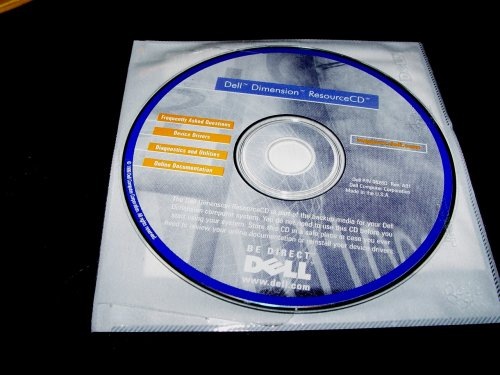 Dell Dimension Resource Cd 1999 Back up Cd Rom