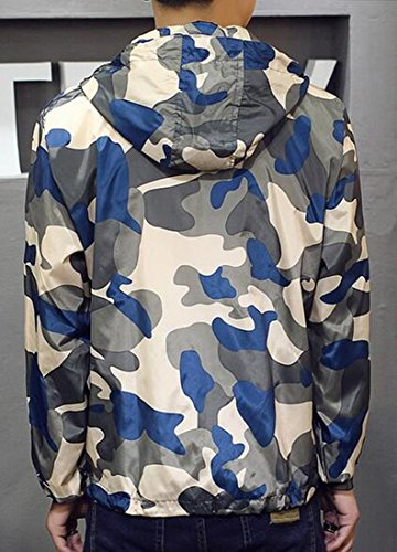 Sleeve Mens Zip Coat Camo 2 Up Long Hooded UK today Jacket Lightweight xRqOS7Xn