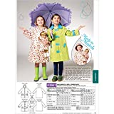 Kwik Sew K3941 Childrens and Doll Raincoats Sewing